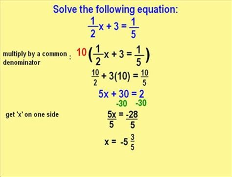 Solving word problems involving linear equations